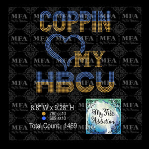 Coppin Love My HBCU Rhinestone Digital Download File - My File Addiction