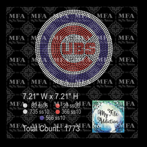 Cubs Rhinestone Digital Download File - My File Addiction