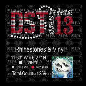 DST 1913 Rhinestone & Vector Digital Download File - My File Addiction