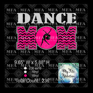 Dance Mom 2 Rhinestone & Vector Digital Download File - My File Addiction