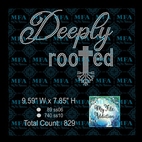 Deeply Rooted Rhinestone Digital Download File - My File Addiction