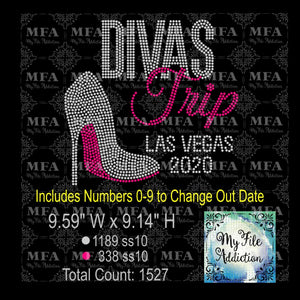 Divas Trip Las Vegas Stiletto Rhinestone Digital Download File - My File Addiction