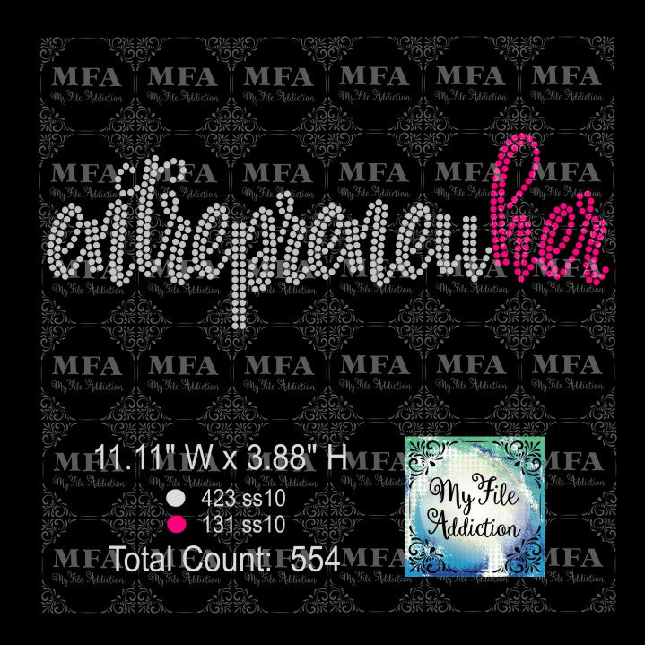 Entrepreneuher Rhinestone Digital Download File - My File Addiction