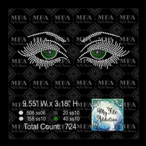 Eyes Rhinestone Digital Download File - My File Addiction