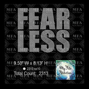 FEARLESS Rhinestone Digital Download File - My File Addiction