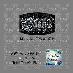 Faith Scatter Small Rhinestone Digital Download File