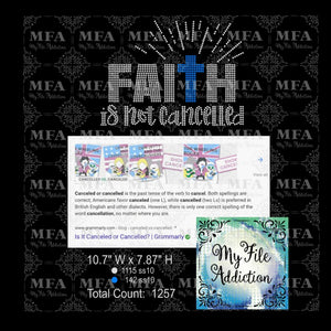 Faith Is Not Cancelled Rhinestone Digital Download File - My File Addiction