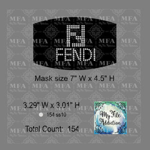 Fendi Small Rhinestone Digital Download File