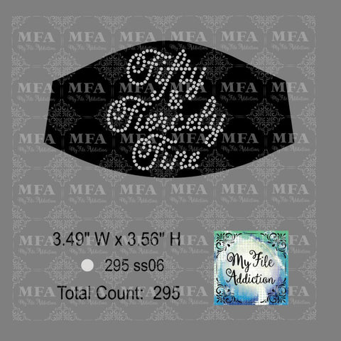 Fifty and Fiercely Fine Small Rhinestone Digital Download File