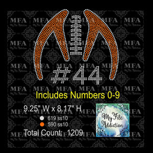 Football Skeleton Rhinestone Digital Download File