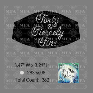 Forty and Fiercely Fine Small Rhinestone Digital Download File
