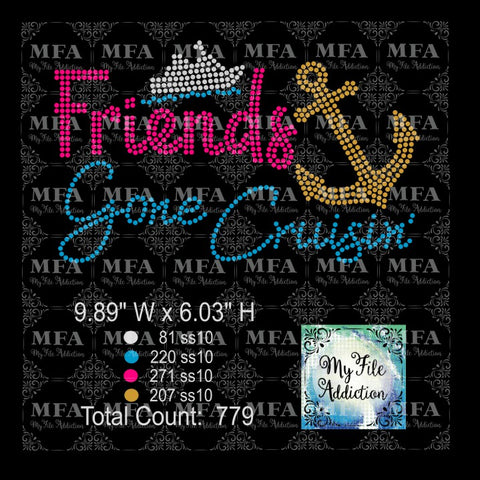 Friends Gone Cruisin' 1 Cruise Rhinestone Download File - My File Addiction