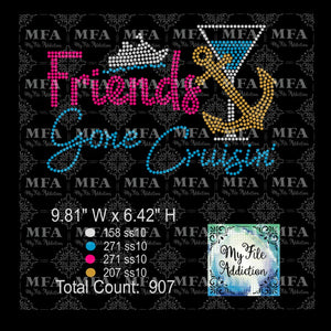 Friends Gone Cruisin' 2 Cruise Rhinestone Download File - My File Addiction