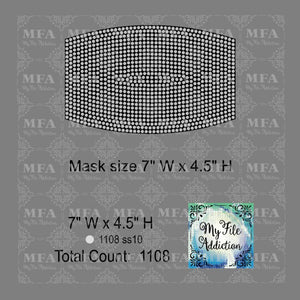Full Coverage Mask Rhinestone Digital Download File