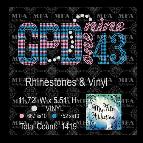 Gamma Phi Delta 1943 Rhinestone & Vector Digital Download File - My File Addiction