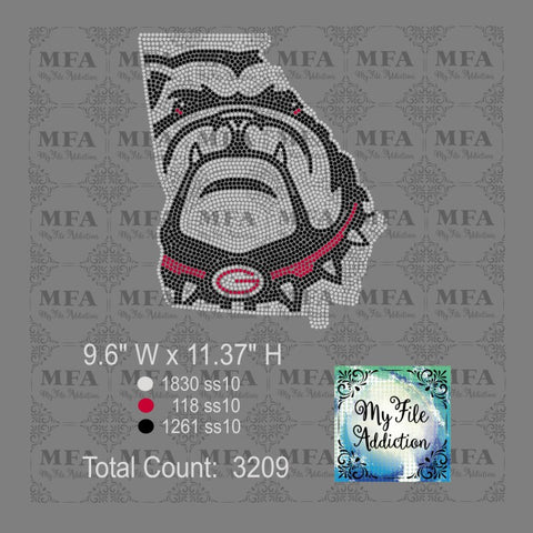 Georgia Bulldogs Rhinestone Digital Download File - My File Addiction
