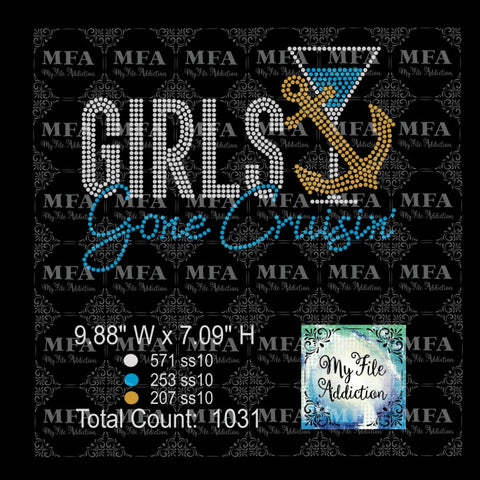 Girls Gone Cruisin' 1 Cruise Rhinestone Download File - My File Addiction