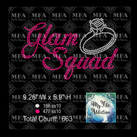 Glam Squad with Ring Rhinestone Digital Download File - My File Addiction