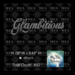 Glambitious Rhinestone Digital Download File - My File Addiction