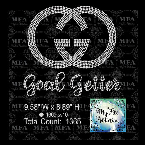 Goal Getter Rhinestone Digital Download File - My File Addiction