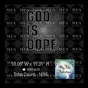 God Is Dope 2 Rhinestone File