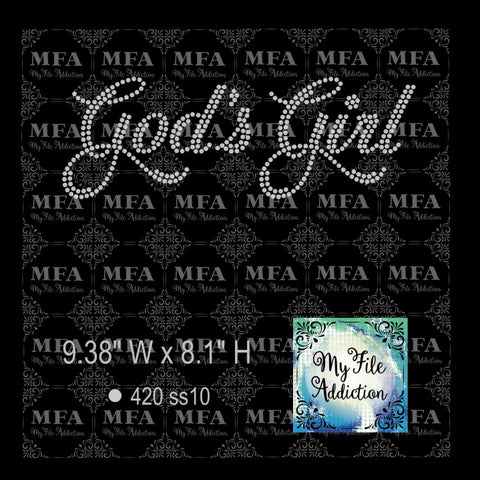 God's Girl 2 Rhinestone Digital Download File - My File Addiction