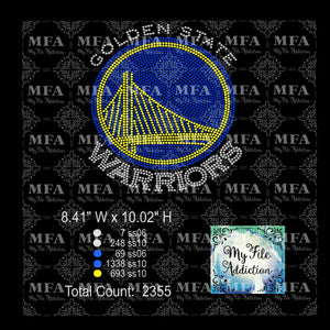 Golden State Warriors Rhinestone Digital Download File - My File Addiction