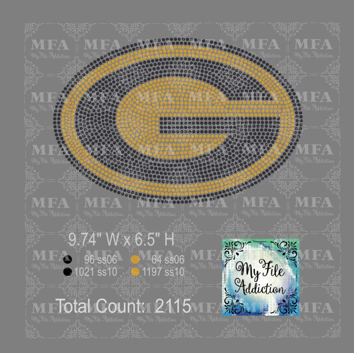 Grambling Rhinestone Digital Download File