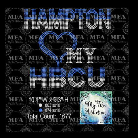 Hampton Love My HBCU Rhinestone Digital Download File - My File Addiction
