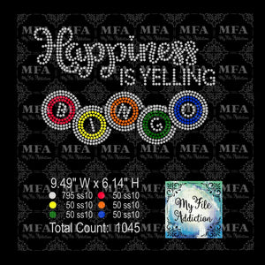 Happiness Is Yelling Bingo Rhinestone Digital Download File