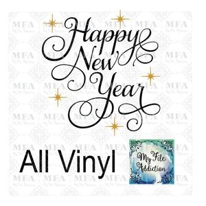 Happy New Year Vector Digital Download File