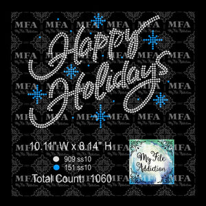Happy Holidays Rhinestone Digital Download File - My File Addiction