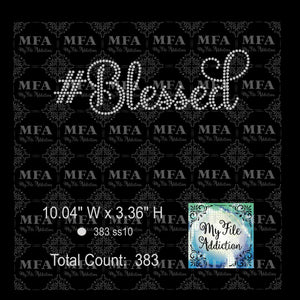 #Blessed Rhinestone Digital Download File