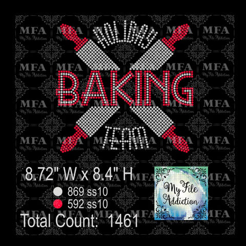 Holiday Baking Team Rhinestone File