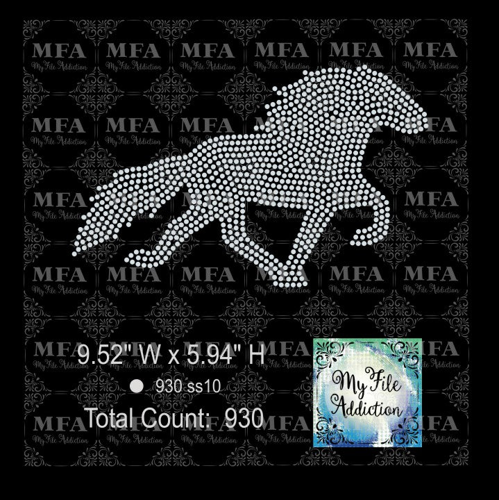 Horse 1 Rhinestone Digital Download File