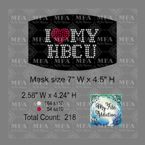 I Love My HBCU Small Rhinestone Digital Download File - My File Addiction