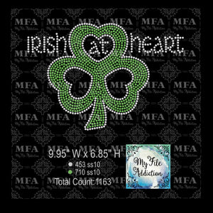 Irish At Heart Rhinestone Digital Download File