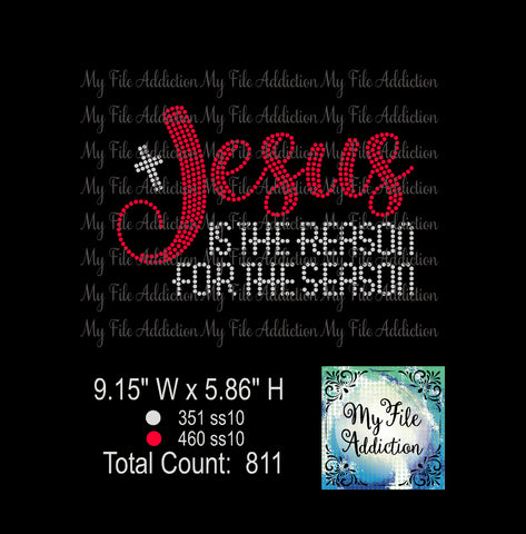 Jesus Is The Reason 2 Rhinestone Digital Download File - My File Addiction