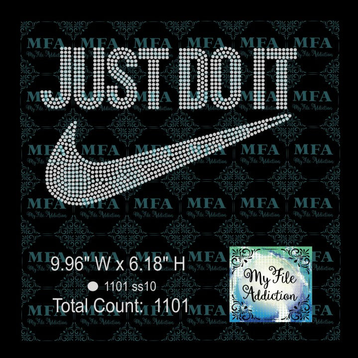 Just Do It Rhinestone Digital Download File - My File Addiction