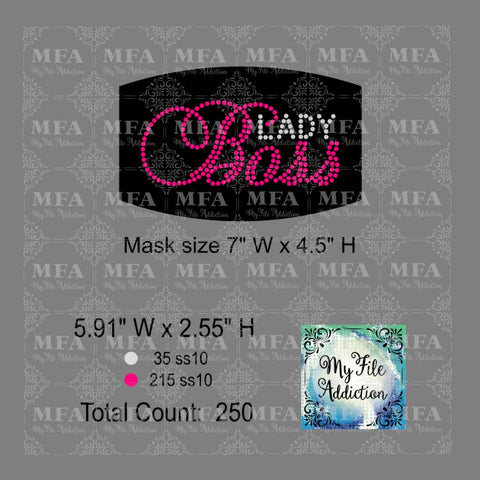 Boss Lady Small Rhinestone Digital Download File