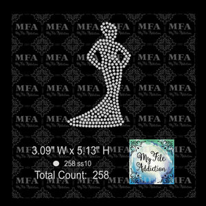 Lady In Gown Rhinestone Digital Download File - My File Addiction