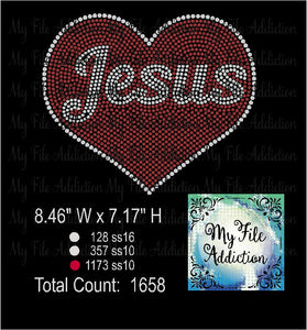 Love Jesus Rhinestone Digital Download File - My File Addiction