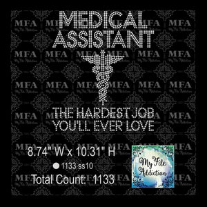Medical Assistant Rhinestone Digital Download File - My File Addiction