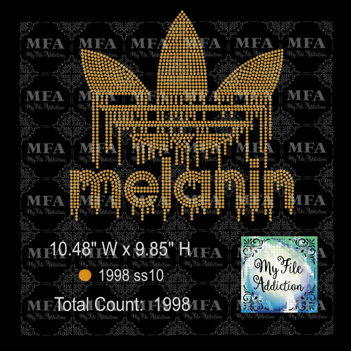 Melanin Adidas Rhinestone Digital Download File - My File Addiction