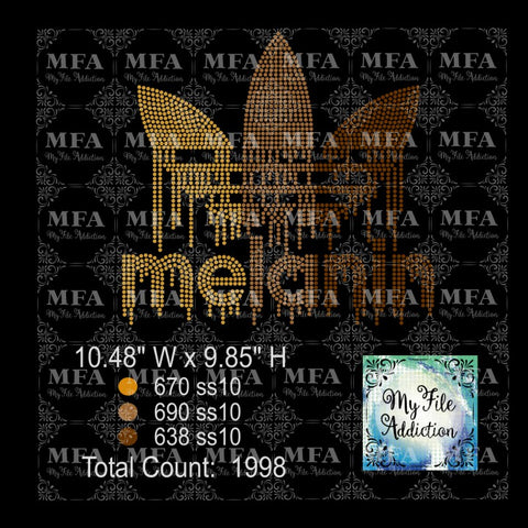 Melanin Adidas 3 Colors Rhinestone Digital Download File