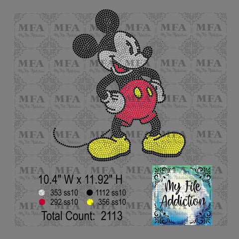 Mickey Full Size Rhinestone Digital Download File - My File Addiction