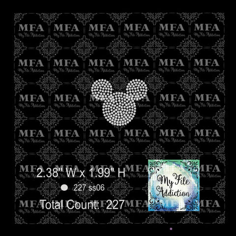 Mickey Hat 1 Color Rhinestone Digital Download File - My File Addiction