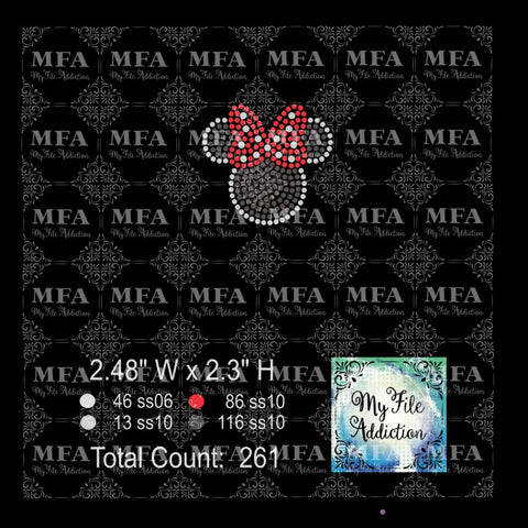 Minnie Hat Rhinestone Digital Download File - My File Addiction