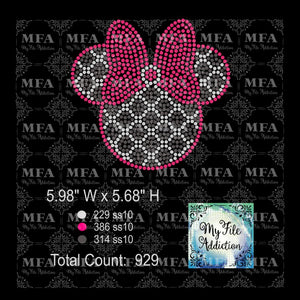 Minnie Quatrefoil 3 Color Rhinestone Digital Download File - My File Addiction