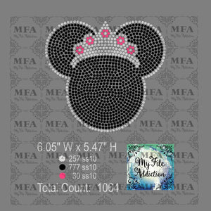 Minnie with Crown Rhinestone Digital Download File - My File Addiction